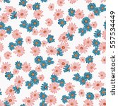 seamless floral pattern in... | Shutterstock .eps vector #557534449