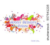 birthday greeting card design...   Shutterstock .eps vector #557541235