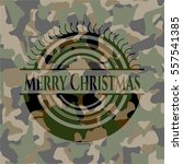 merry christmas on camouflage... | Shutterstock .eps vector #557541385