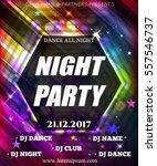night dance party poster... | Shutterstock .eps vector #557546737