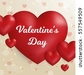 valentine's day concept. vector ... | Shutterstock .eps vector #557549509