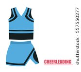 isolated cheerleading uniform... | Shutterstock .eps vector #557550277