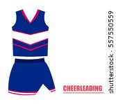 isolated cheerleading uniform... | Shutterstock .eps vector #557550559