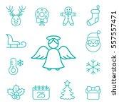 christmas xmas new year winter... | Shutterstock .eps vector #557557471