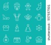 christmas xmas new year winter... | Shutterstock .eps vector #557557501