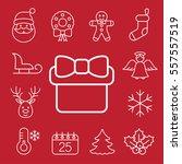 christmas xmas new year winter... | Shutterstock .eps vector #557557519