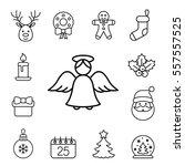 christmas xmas new year winter... | Shutterstock .eps vector #557557525