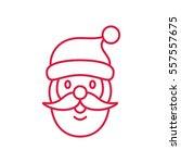 santa claus face beard mustage... | Shutterstock .eps vector #557557675