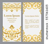 vector banners in white and... | Shutterstock .eps vector #557561605