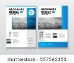 two business brochure design...   Shutterstock .eps vector #557562151