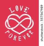 infinite love sign drawing with ... | Shutterstock .eps vector #557567989
