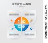 vector infographic template  4... | Shutterstock .eps vector #557569591
