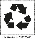 recycling    black vector icon