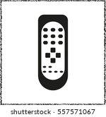 remote control    black vector... | Shutterstock .eps vector #557571067
