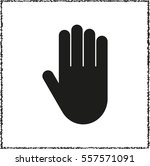 hand    black vector icon | Shutterstock .eps vector #557571091