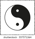 yin and yang    black vector... | Shutterstock .eps vector #557571364