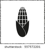 corn    black vector icon | Shutterstock .eps vector #557572201
