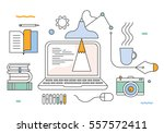 flat style modern design... | Shutterstock .eps vector #557572411