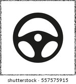 steering wheel    black vector... | Shutterstock .eps vector #557575915