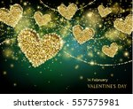 luxury valentines day festive... | Shutterstock .eps vector #557575981