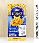 Small photo of Spencer, Wisconsin, January,12,2016, Box of Kraft Macaroni & Cheese Kraft is an American based company