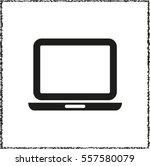 computer    black vector icon | Shutterstock .eps vector #557580079
