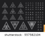 sacred geometry. set of minimal ... | Shutterstock .eps vector #557582104
