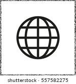 earth    black vector icon | Shutterstock .eps vector #557582275