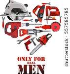 repair building carpentry tools ... | Shutterstock .eps vector #557585785