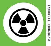 radiation radioactive sign... | Shutterstock .eps vector #557585815