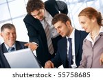 business man showing something... | Shutterstock . vector #55758685