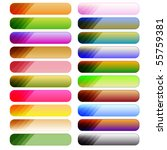 colorful button collection over ... | Shutterstock . vector #55759381