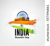 india republic day celebration... | Shutterstock .eps vector #557596861