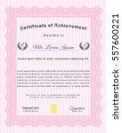 pink sample diploma. money... | Shutterstock .eps vector #557600221