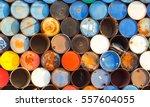 pile of terminate steel gallon | Shutterstock . vector #557604055