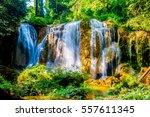 tansawan waterfall in doi phu... | Shutterstock . vector #557611345