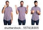 surprised man | Shutterstock . vector #557618305