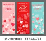 sale header or banner set with... | Shutterstock .eps vector #557621785