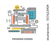 vector illustration of program...