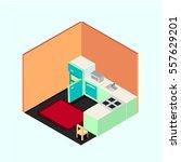 kitchen room | Shutterstock .eps vector #557629201