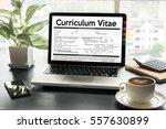 cv   curriculum vitae  job... | Shutterstock . vector #557630899