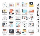 vector set of seo and... | Shutterstock .eps vector #557631394