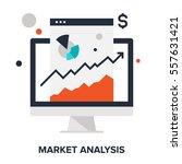 vector illustration of market... | Shutterstock .eps vector #557631421