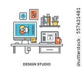 vector illustration of design... | Shutterstock .eps vector #557631481
