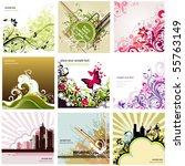 floral design elements set   Shutterstock .eps vector #55763149