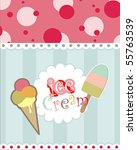 card design with ice cream | Shutterstock .eps vector #55763539