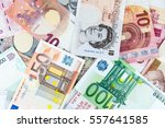 Stock photo multi currency note indicating world economy and critical fuel price 557641585