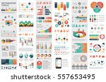 Infographic elements data visualization vector design template. Can be used for steps, options, business processes, workflow, diagram, flowchart concept, timeline, marketing icons, info graphics. | Shutterstock vector #557653495