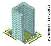 vector isometric skyscraper for ... | Shutterstock .eps vector #557653531