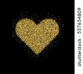 gold glitter valentines day... | Shutterstock .eps vector #557654809